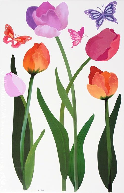 Samolepící dekorace na stěnu Tulipány