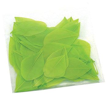 Dekorační peří 3 g - zelené
