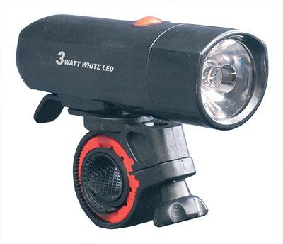 LED světlo na kolo přední 3092, 3W, 100lm