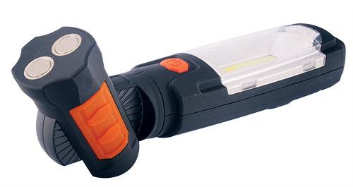 Montážní, pracovní dobíjecí svítilna LED 3W COB + 6 LED
