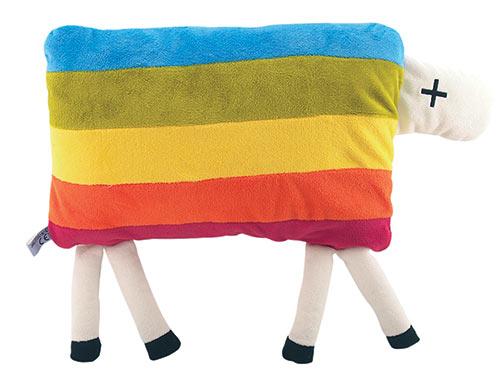 Polštářek plyšový ovečka Déčko 35 x 22 cm na zip