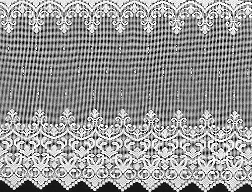 Šitá kusová záclona TOSKANA s řasící stuhou - 300 x 160 cm