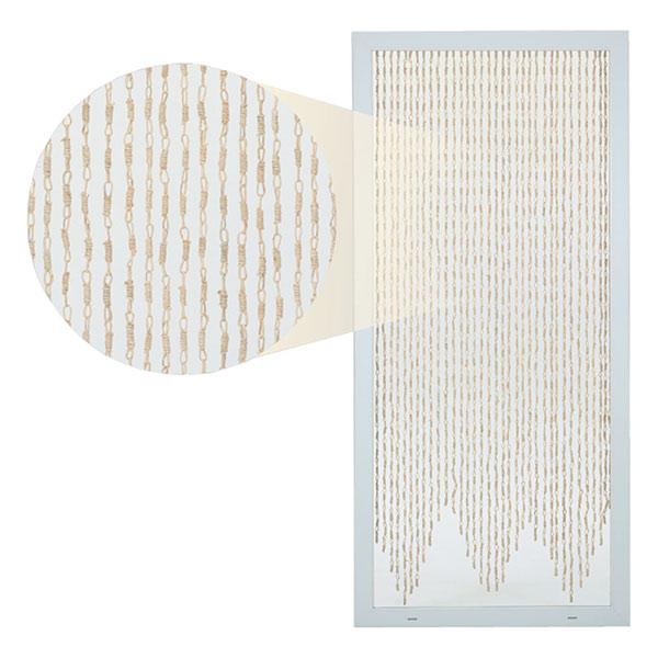 Přírodní závěs do dveří světlý 90 x 200 cm