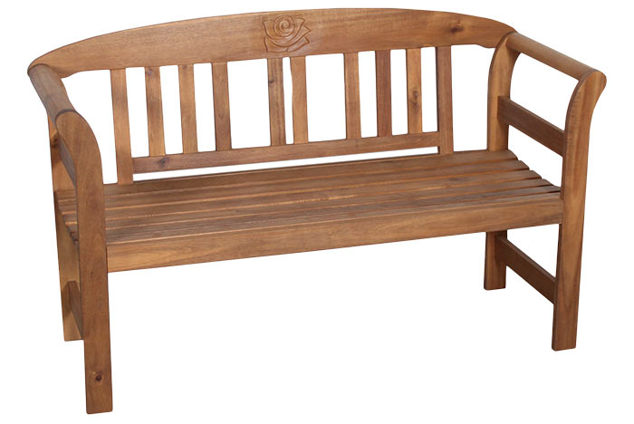 Zahradní dřevěná lavice z tvrdého dřeva Akacie 130 cm, Fortel