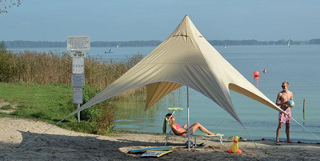 Zahradní a plážový přístřešek Malibu 450 x 450 cm
