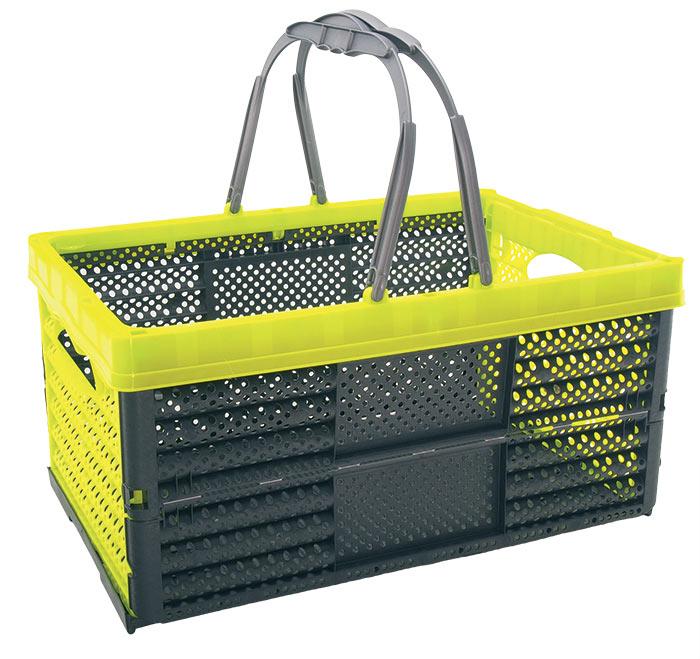 Košík nákupní skládací 2 držadla, mix barev