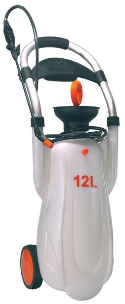 Zahradní tlakový postřikovač 12 l na kolečkách,hadice 2,5 m, MAT