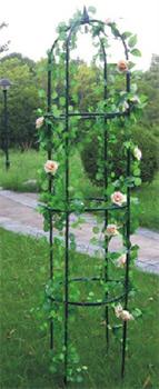 Opěra na popínavé rostliny 200 x 40 cm kovová, zelená