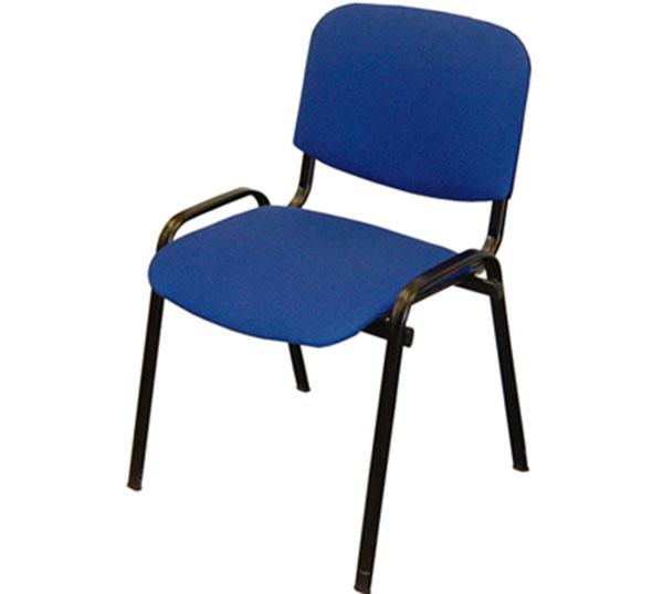 Konferenční stohovatelná židle VISI, modrá, Idea nábytek