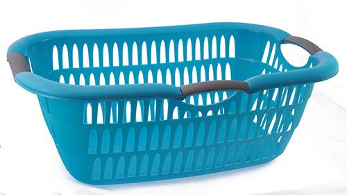 Plastový koš na čisté prádlo Ergo 52 l, 60 x 40 x 22 cm