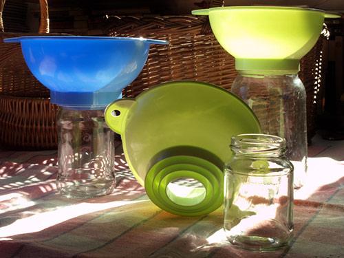 Trychtýř na zavařovací sklenice