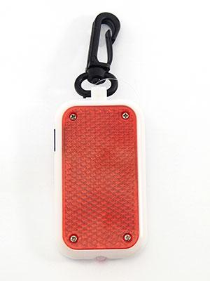 Závěsná blikající odrazka červená + svítilna 3 x LED
