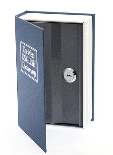 Trezor kniha modrá 180 x 115 x 54 mm