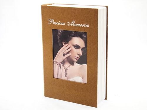 Trezor kniha hnědá 240 x 165 x 55 mm