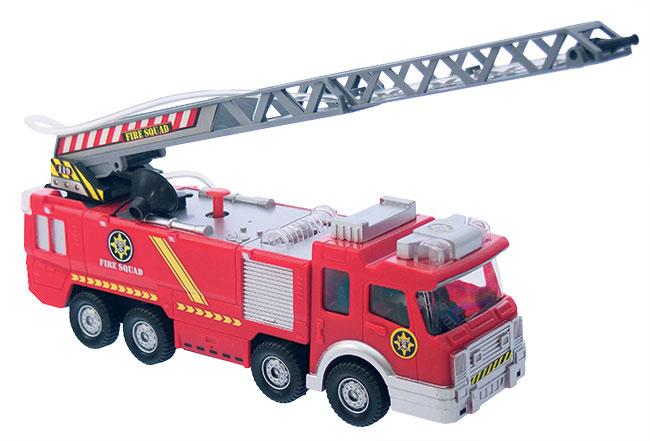 Auto hasičské 25 cm na baterie