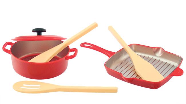 Plastové Kuchyňské nádobí pro děti na vaření 1