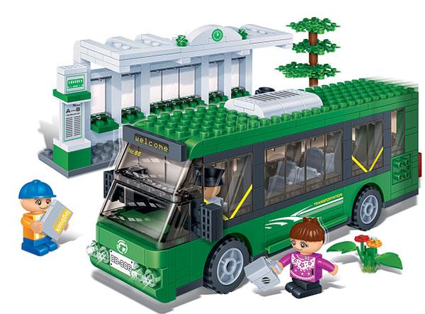 BanBao stavebnice Transportation autobusová zastávka 372ks +