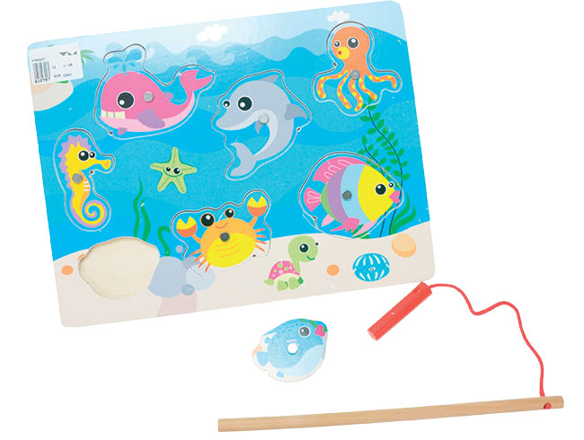Hra ryby dřevěná 30 x 22,5 cm 12m+