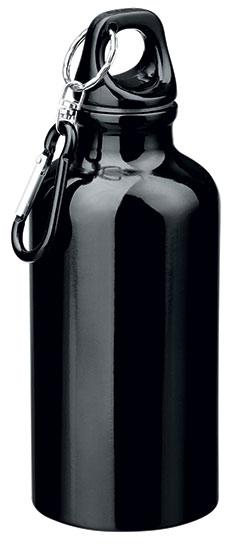 Hliníková outdoorová láhev BARAC 400 ml, černá