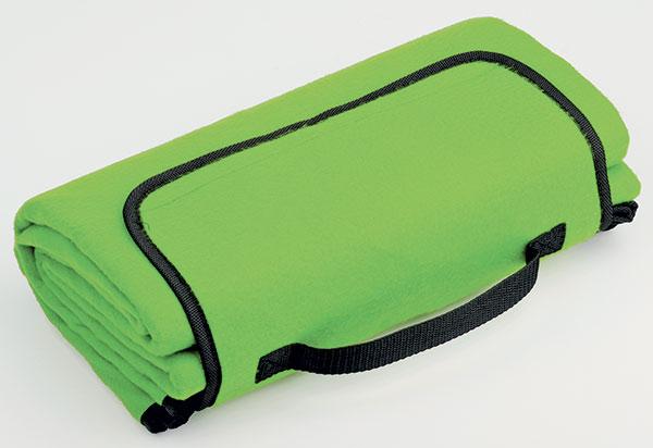 fleecová deka na piknik PAT 140 x 130 cm, zelená