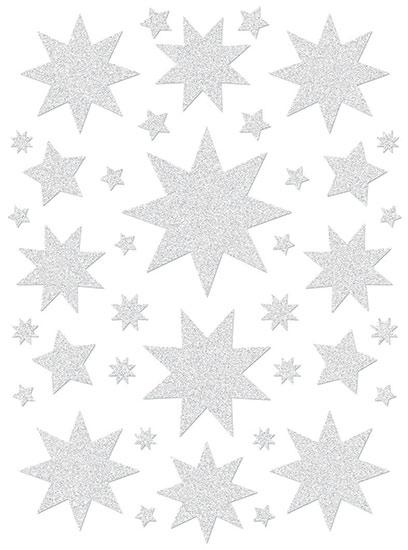 Fólie na 2 okna, Hvězdy bílé