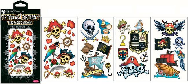 Tetovačky piráti 30 ks