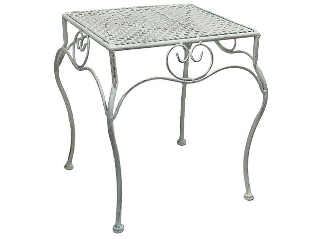 Květinový stolek kovový malý