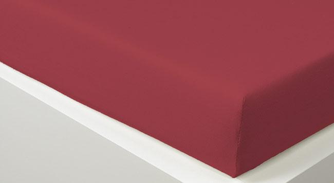 Prostěradlo JERSEY 90 x 200 cm -  tm. červená