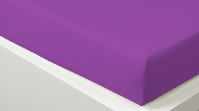 Prostěradlo JERSEY 90 x 200 cm -  fialová