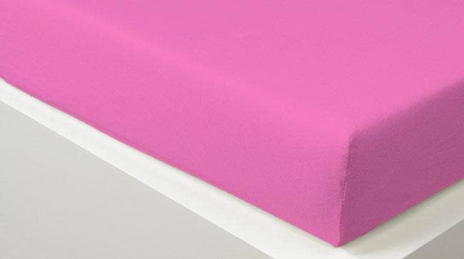 Prostěradlo JERSEY 90 x 200 cm -  růžová