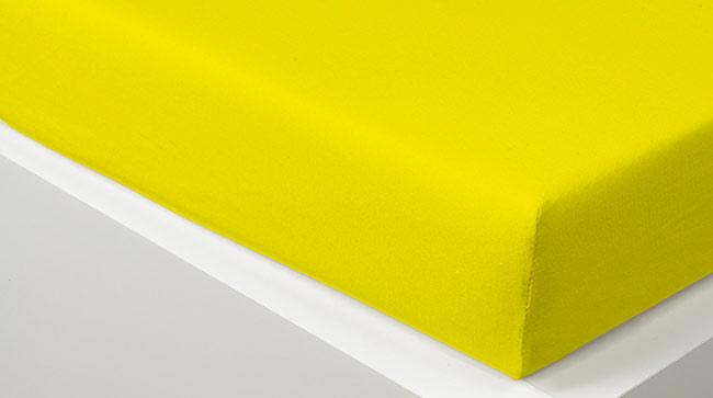 Prostěradlo JERSEY 180 x 200 cm -  žlutá