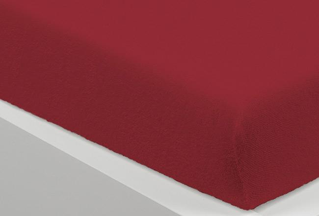 Prostěradlo FROTE 90 x 200 cm - tm. červená