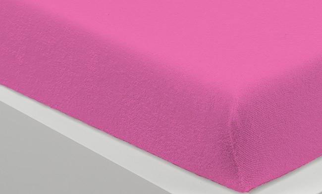 Prostěradlo FROTE 90 x 200 cm - růžová