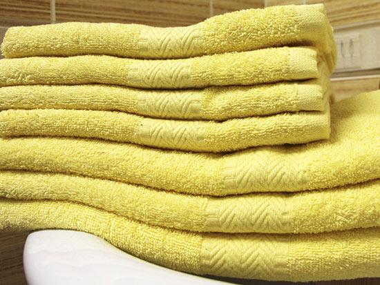 Ručník BOBBY 50 x 100 cm, žlutá
