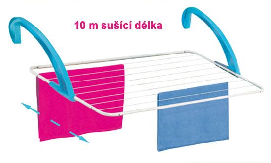 Sušák na  prádlo na  balkon a vanu Dino 106 cm, Fortel