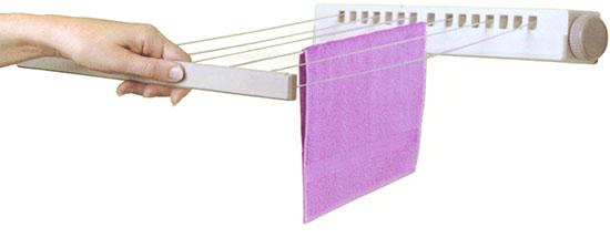 Svinovací koupelnový sušák na prádlo Tira 22 m, 6 šňůr