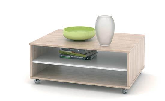 Konferenční stolek ZU05 sonoma / bílá