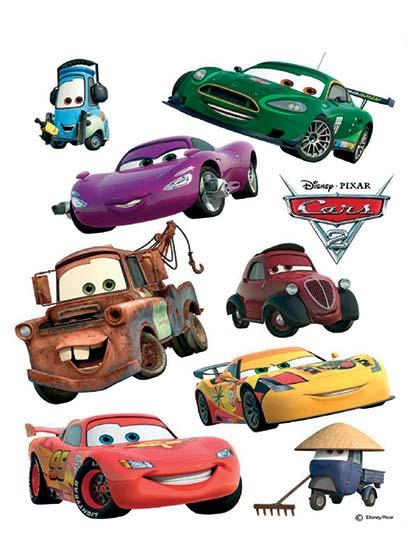 Samolepky na zeď Disney DK 887 Auta 2 McQueen a Mater 65 x 85 cm