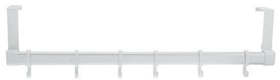 Věšák na dveře 1818 Aluminium 6 háčků, 60 cm