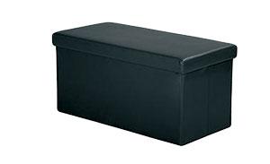 Skládací lavice s úložným prostorem, černá FN1510, IDEA