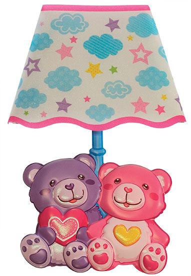 Lampička samolepicí svítící LED Medvídci 27 cm