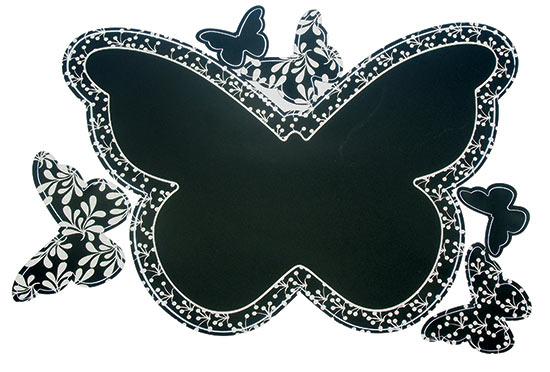 Samolepící tabule na zeď Motýl 49 x 29 cm