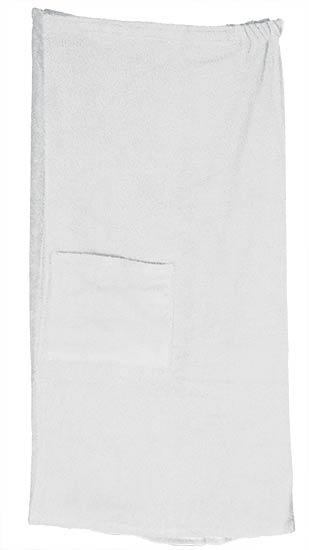 Kilt do sauny a wellness pánský V0321, 90 x 150 cm, bílá