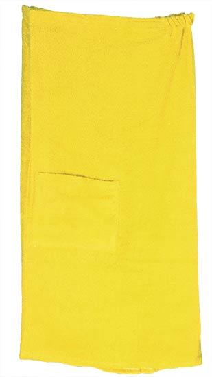 Kilt do sauny a wellness pánský V0321, 90 x 150 cm, žlutá