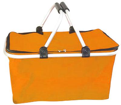 Nákupní košík skládací Ado 1327, látkový 41 x 21 x 23 cm, oranžový