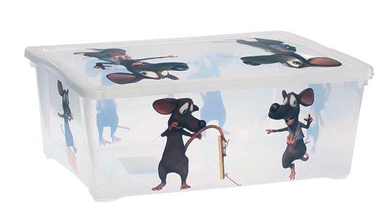 Plastový box s víkem 38 x 27 x 14 cm, 10 l