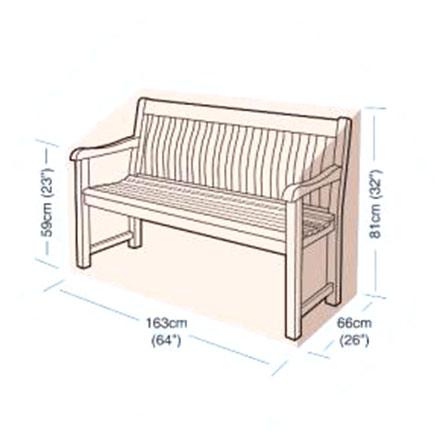 Ochranný obal na zahradní lavici 163 x 66 x 81 cm, Fortel