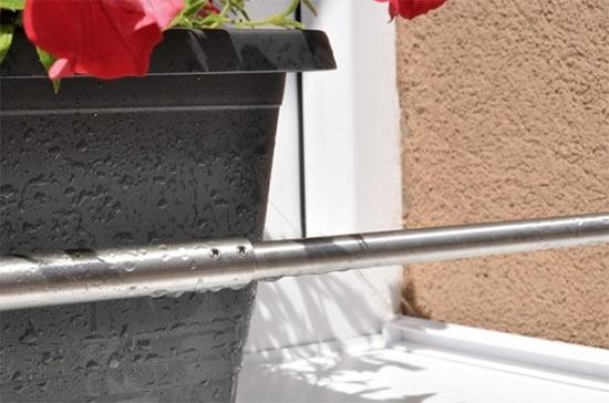 Nerezová zábrana truhlíku rozpěrná - nastavitelná 600 - 1000 mm