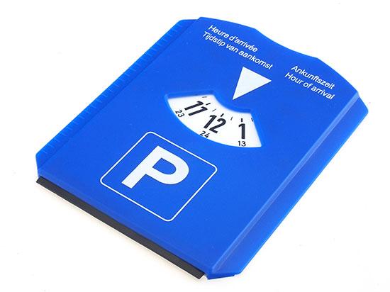 Parkovací hodiny do auta se škrabkou Parkscrap