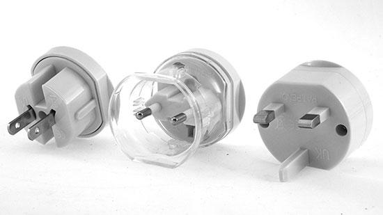 Cestovní adaptér redukce do zásuvky EU, UK, CH, AU, US 230 V